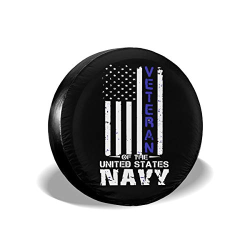 Navy Tire Cover - Hhill Swater US Navy Veteran Spare Tire Wheel Cover Waterproof Dust-Proof Universal Tire Covers - Jeep, Trailer, RV, SUV, Truck and Many Vehicles 14