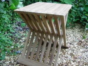 Teak Wood Folding Shower Seat Bench Stool Bath Sauna