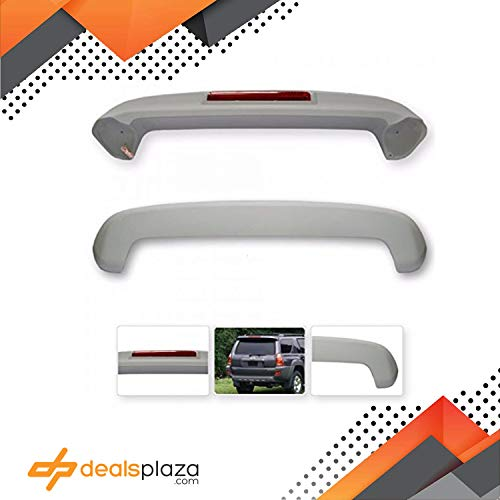 (Dealsplaza Trunk Wing Spoiler for Toyota 4RUNNER 2003-2009 with Stop Light Not Painted.)
