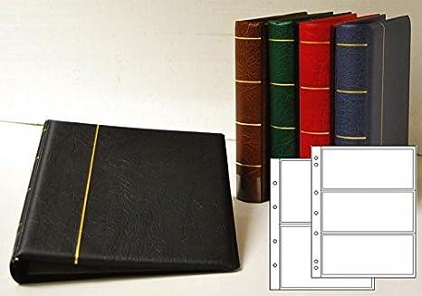 6dc728b235 Prophila Album per Banconote con 20 Fogli per 50 Banconote Marrone ...