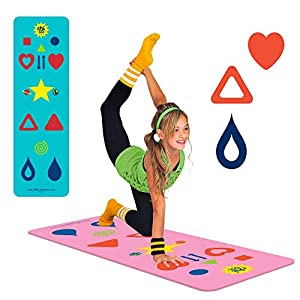 Kids, Tween/Adult Yoga Mat Sizes & Yoga Game, The Chi Mat + How-to Poster – Makes Yoga Fun – Comes in 2 different Mat…