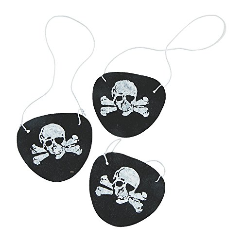 Felt Pirate Eye Patches 1 Dozen -