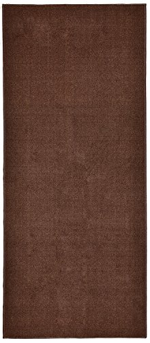 Solid Brown or Beige Roll Runner 27 in or 31 1/2 in or 36 in Wide x Custom Size of Your Length Choice Slip Resistant Rubber Back Area Rugs and Runners (Brown, 20 ft x 36 in) by RugStylesOnline