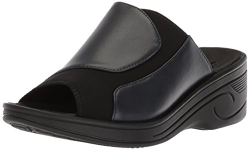 Women's Easy Slight Sandal Wedge Street Neoprene Navy Black w4qqA