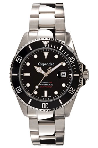 Gigandet Men's Automatic Pro Diver Watch Sea Ground Analog Stainless Steel 30atm Silver Black G2-002