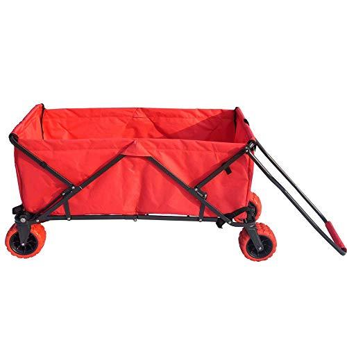 Impact Canopy Folding Utility Wagon, Collapsible All-Terrain Beach Wagon, Extra Large, - Sleigh Chair High