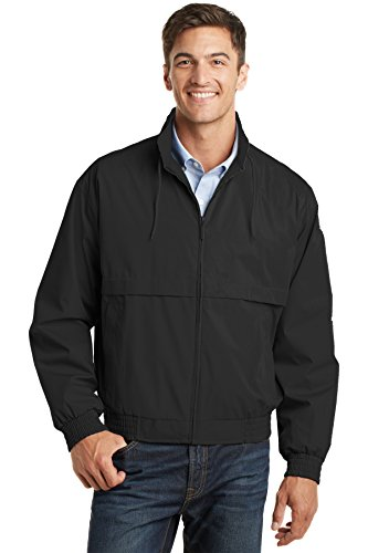 Port Authority Classic Poplin Jacket, Black/Black, ()