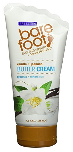 Bare Foot Cream, Vanilla + Jasmine Butter, 4.2 Fluid (Vanilla Wine)