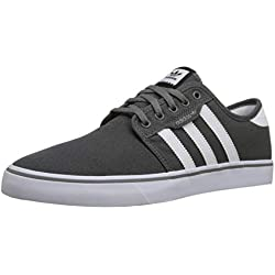 adidas Originals Men's Seeley Running Shoe, Ash Grey/White/Black, 9.5 M US
