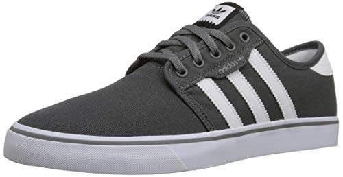 adidas Originals  Men's Seeley Skate Shoe,Ash Grey/White/Black,11 M US ()