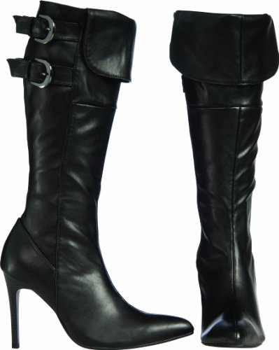 (Secret Wishes Swashbuckling Pirate Boots, Black, Large )