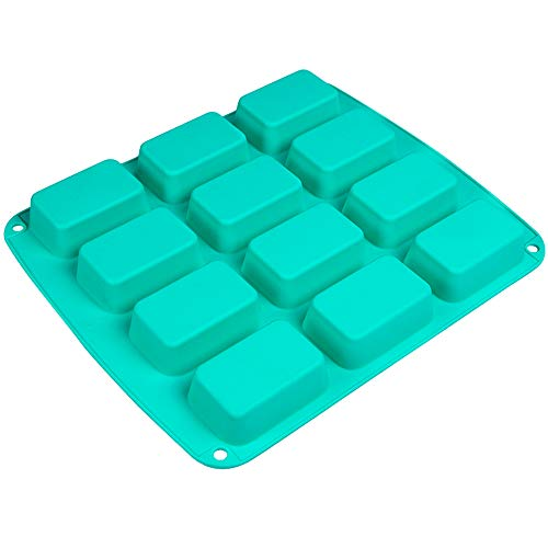 Webake Brownie Pan Silicone Mini Loaf Pan, Rectangular Bar Mold For Soap, Candy, Bread Baking, Butter, Granola Snacks, Keto Fat Bomb and Energy Bar