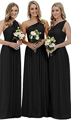 Party Fanciest Long One Black Dress Royal Brdiesmaid Blue Dresses Women's Shoulder Wedding UyzRyZqT
