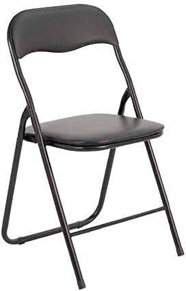 Bricok Juego de 6 sillas Plegables Slim de Metal, sillas para ...