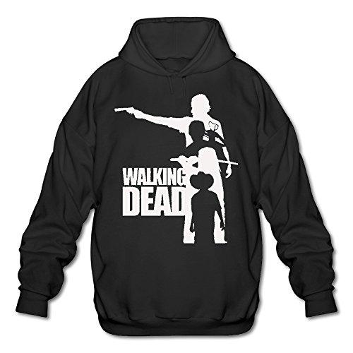 OOONG Men's Walking Dead Hooded Sweatshirt Black X-Large (Walking Dead Dog Merchandise compare prices)