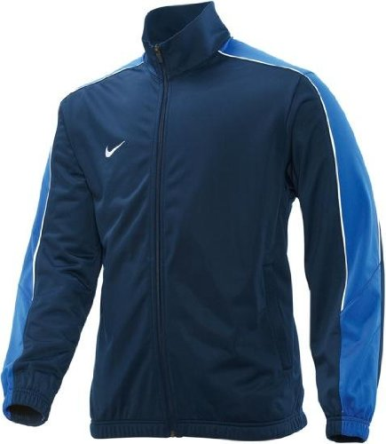 Nike Soccer Suit - Nike Team Poly Track Top Mens Tracksuit Jacket Full Zip Navy Blue Sizes XXL 3XL New 329355 451 (XXL)