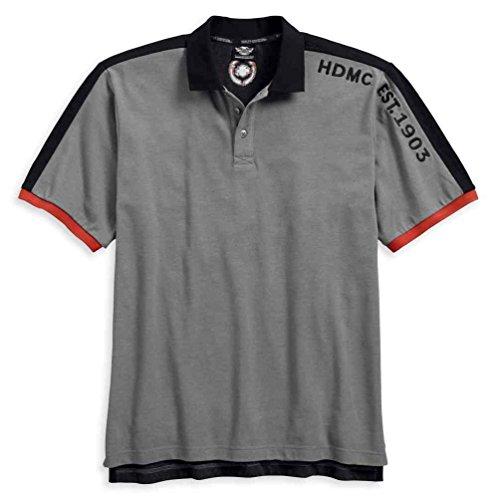Davidson Harley Shirt Embroidered (Harley-Davidson Men's Embroidered Colorblock Polo Shirt, Black 96402-18VM (XL))