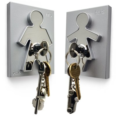 J Me His and Hers Key Holders (H11cm x W8cm x D2.5cm PAIR) J-ME HIS & HERS KEY HOLDER