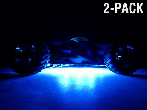2-Pack of Chassis Underglow LED Kits for RC Cars Trucks - Bl