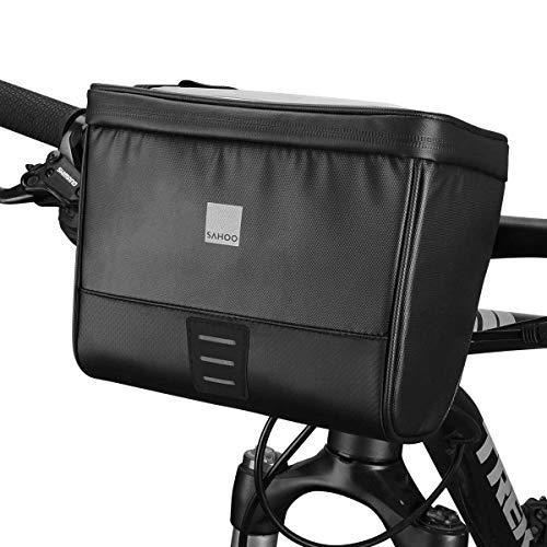 COTEetCI Bike Handlebar Bag Bicycle Touch Screen Phone Holder Handlebar Storage Basket Cycling Front Bag for Road MTB Bike