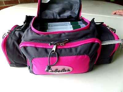 tackle pink bag fishing gear boxes cabelas