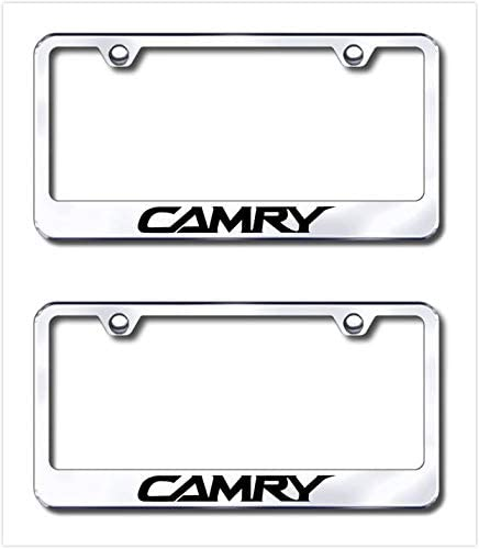 CAMRY Stainless Steel License Plate Frame Rust Free W// Bolt Caps