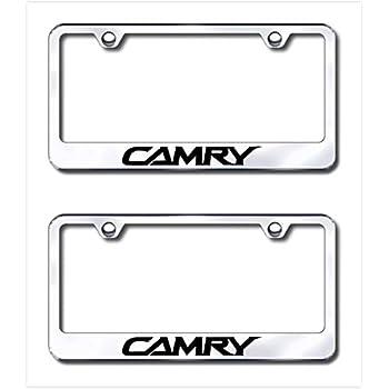 2 Brand New CAMRY chromed METAL license plate frame