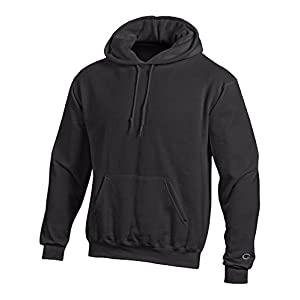 Champion Men's Front Pocket Pullover Hoodie Sweatshirt, Medium, Black