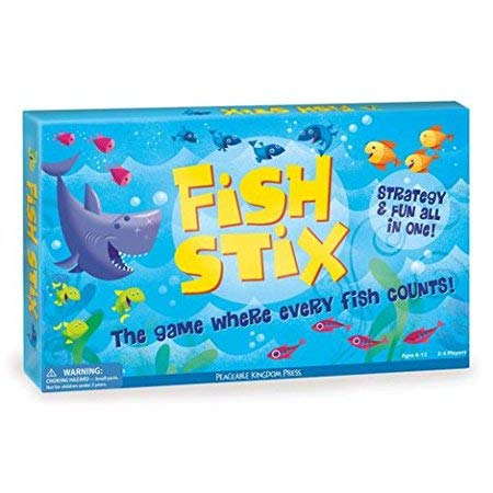 Peaceable Kingdom Award Winning Fish Stix - The Kids' Game Where Every Fish Counts (Stix Fish)