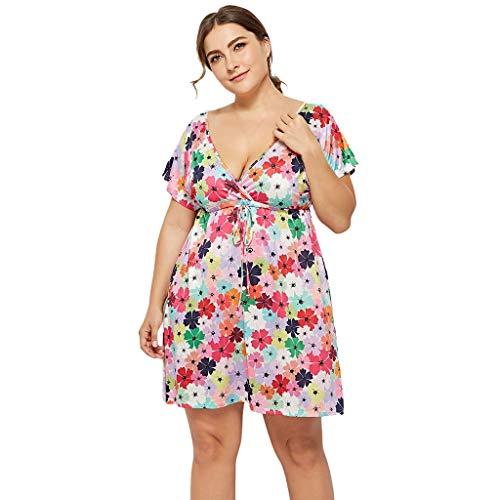 Limsea Women's V Neck Sleeveless Summer Asymmetrical Patchwork Floral Maxi Dresses Ethnic Style Floral Print Tank Dress Geometric Party Bohemian Long Maxi Dresses Navy