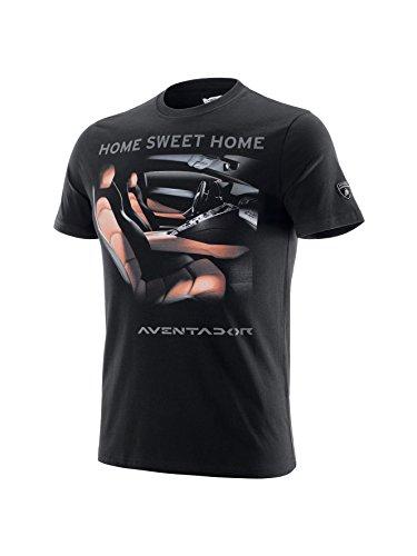 Lamborghini Men's Home Sweet Home T-Shirt, Black, Large (Lamborghini Shirt)