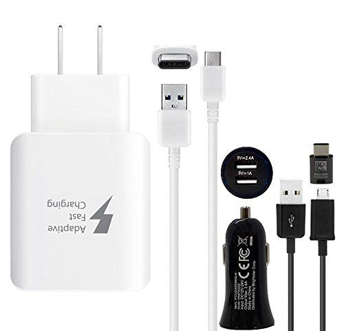 Official Samsung Fast Qi Wireless Stand with Fast Charger & OTG C Adapter - for Galaxy S8,S9,+,Note8,Note9,iPhone 8,+,X,XS,XR,Max by Samsung
