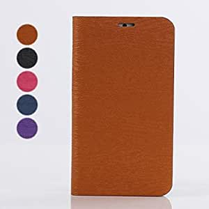 JOE Wallet Style Silk PU Leather Full Body Case with Stand for iPhone 6 (Assorted Colors) , Black