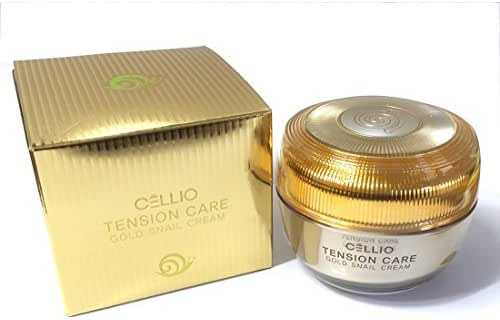 [Cellio] Tension care gold snail cream 50ml / Snail mucus / Renewal, elasticity / Korea Cosmetics