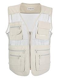 LUSI MADAM Men's Mesh Breathable Multi Pocket Fishing Vest