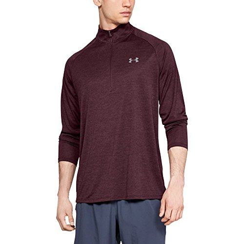 - Under Armour mens Tech 2.0 1/2 Zip-Up, Dark Maroon (600)/Graphite, Large