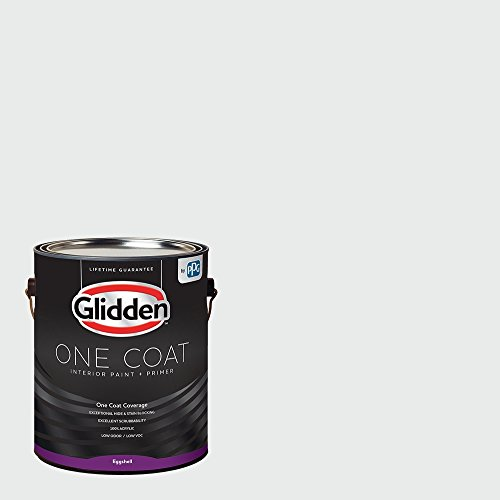 Glidden Interior Paint + Primer: White/White, One Coat, Eggshell, 1 Gallon