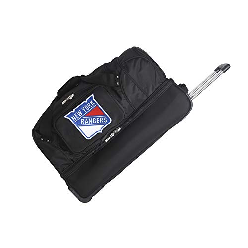 (NHL New York Rangers Rolling Drop-Bottom Duffel Bag, 27-inches)