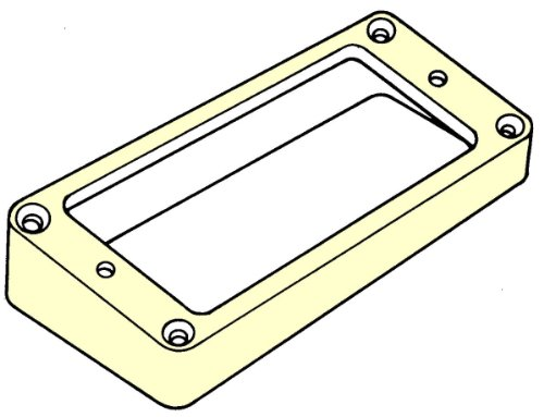 Humbucker Position - DiMarzio Humbucker Mounting Ring Cream Bridge