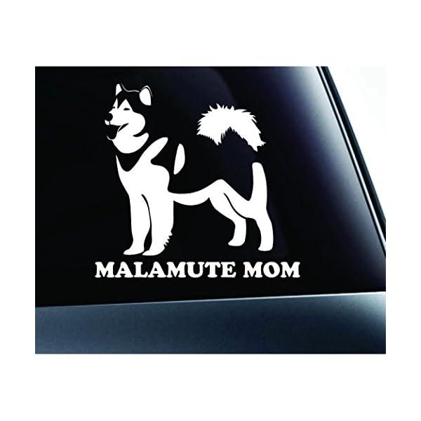 ExpressDecor Alaskan Malamute Mom Dog Symbol Decal Funny Car Truck Sticker Window (White) 1
