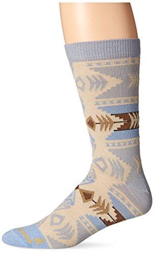 Pendleton Crew Socks, Silver Bark - Grey, Large (Fits Men's Shoe Size 9-12/ Women's Shoe Size 10-13)