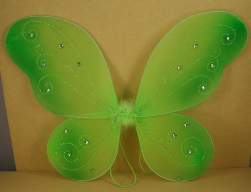 Apple Green Butterfly Fairy Costume Wings 17