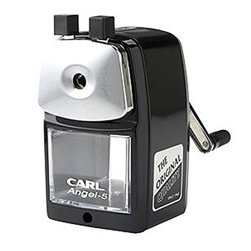 Carl Angel-5 Pencil Sharpener, Black, Quiet for Office, Home and School 3-Pack by CARL BRANDS