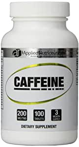 Applied Nutriceuticals Caffeine Capsules, 200 mg, 100 Count