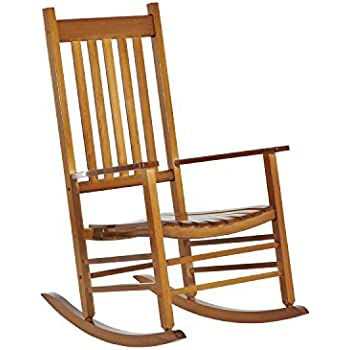 Great Outsunny Porch Rocking Chair   Outdoor Patio Wooden Rocking Chair   Natural  Color