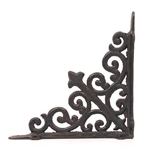 - BarnwoodUSA | Victorian Cast Iron Shelf Bracket | Cast Iron Bracket for Shelves | Wall Mounted Bracket for Rustic Style | Floating Shelf Victorian Hanging Wall Hardware | 8