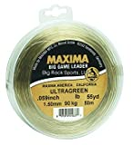 Maxima Fishing Line Big Game Leader Wheel, Ultragreen, 150-Pound/55-Yard