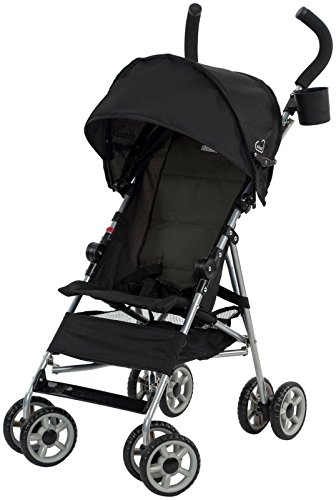 (Kolcraft Cloud Lightweight Umbrella Stroller with Large Sun Canopy, Black)