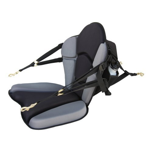 GTS Expedition Molded Foam Kayak Seat - Water Bottle Pack...