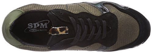 SPM Cuba Sneaker Damen Sneakers Mehrfarbig (Oro/Black/Black/Oasi/Leopard)